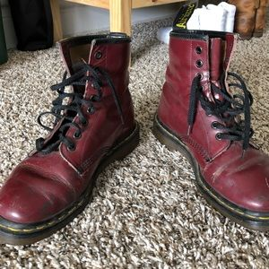 Doc Martens pascal maroon boot